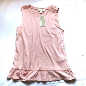 Michael Kors Pink Sleeveless Top Sz S